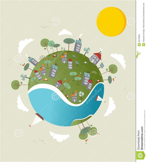 go green world design royalty free stock images image