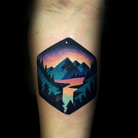 small colorful tattoos 100 forest designs for masculine tree ink ideas