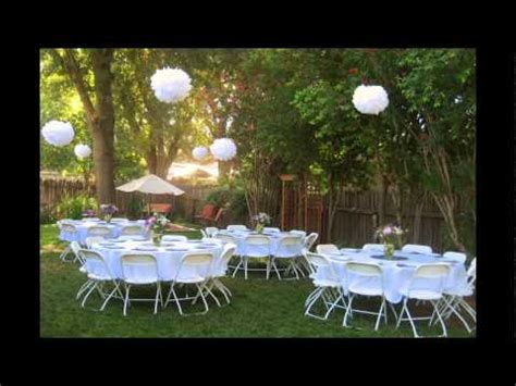 backyard bbq reception ideas backyard wedding reception ideas youtube