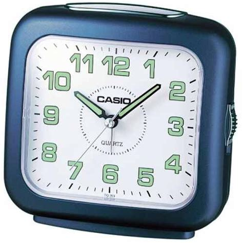 casio tq359 2d travel micro light desktop alarm clock timer w snooze battery new