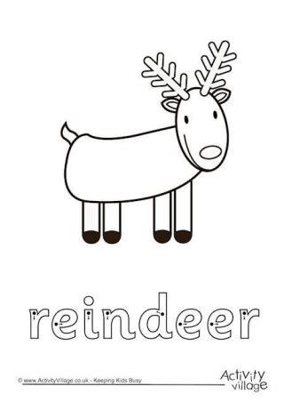 printable reindeer worksheets reindeer printables