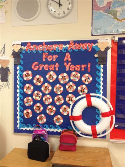 nautical theme classroom bulletin board  students