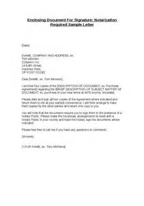 Business Letter Requesting Signature Enclosing Document For Signature Notarization Required