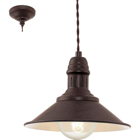 eglo 49455 stockbury 1 light small ceiling pendant antique