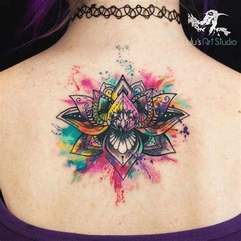 watercolor mandala tattoo the 25 best mandala tattoo back ideas on pinterest