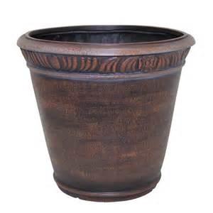 Kitchen Window Planter Box - garden treasures bronze round planter lowe s canada