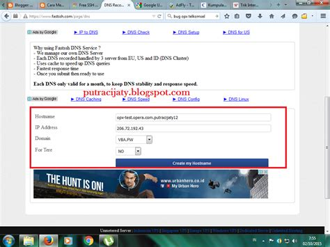 bug gratisan telkomsel cara pointing domain ssh putra cijaty
