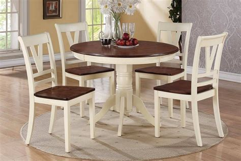 cherry finish classic 5pc dining room set w optional items cherry cream finish 5 pc round dining table set
