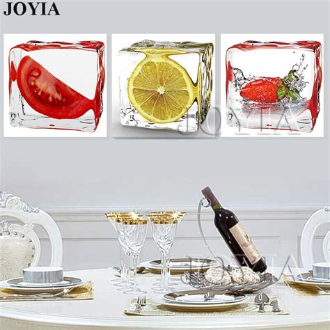 piece modern wall art dining room decorative pictures