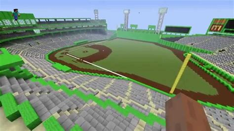 Backyard Baseball Game Fenway Park In Minecraft Youtube