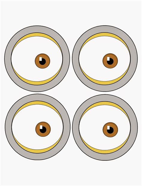 Printable Minion Eyes Template | pin the eye on the minion party game printable everyday