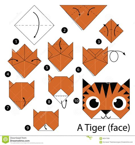 How To Make Origami Tiger - step by step how to make origami a tiger