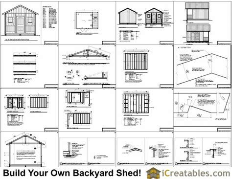 shedpa 12 x16 shed plans