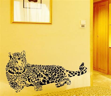 leopard home decor leopard home decor removable wall sticker decal decoration