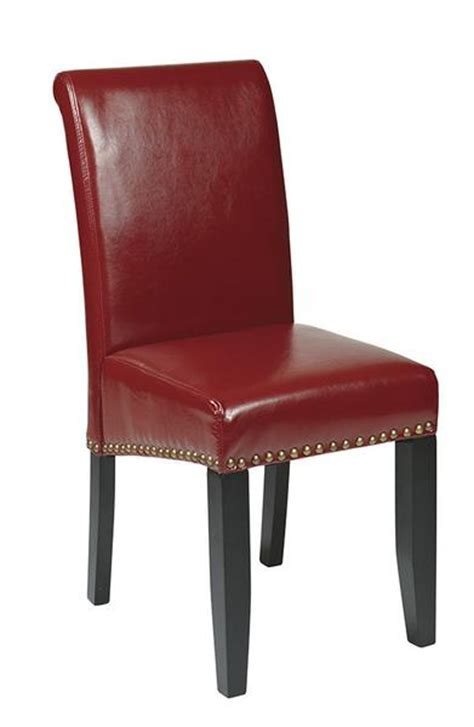 Leather Office Chair Sale Design Ideas Office Osp Designs Met87rd Crimson Eco Leather Parsons Chair