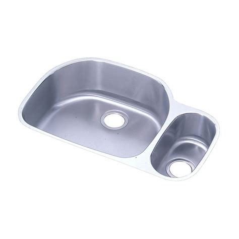 Elkay Stainless Steel Kitchen Sink Elkay Lustertone Undermount Stainless Steel 32 In 0 Bowl Kitchen Sink Eluh322110r