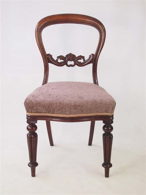 set  antique victorian mahogany dining chairs