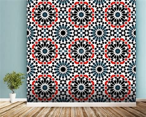 islamic pattern wall islamic pattern wallpaper wall mural wallsauce australia