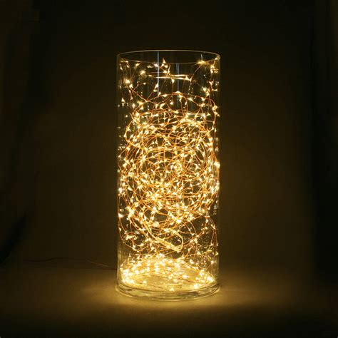 starry warm white copper fairy string lights 100ft