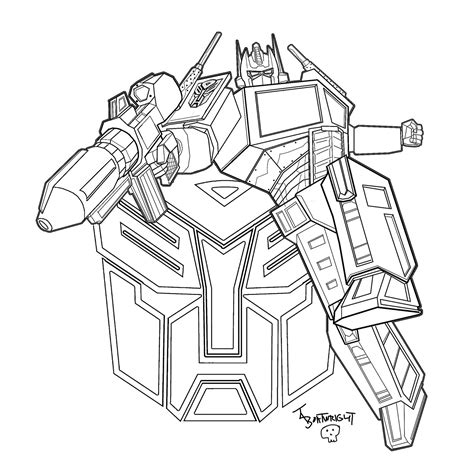 Optimus Prime Coloring Page by Transmissionpress Optimus Prime Transformers Coloring Pages