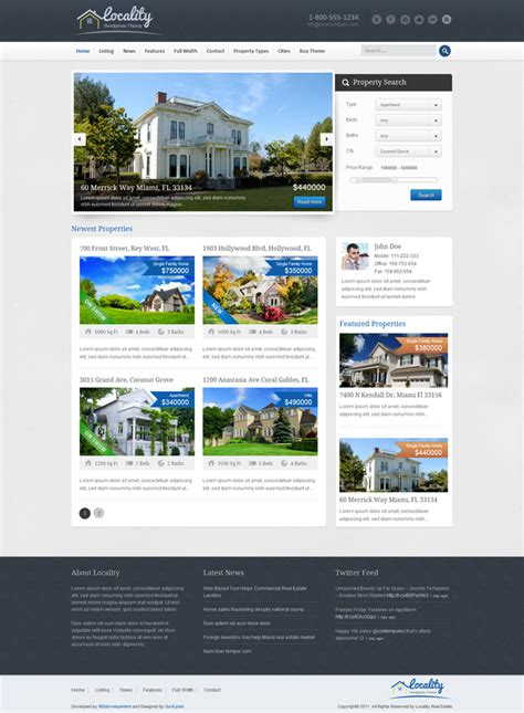 15 real estate wordpress themes webdesigner lab