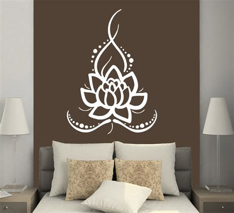 buddhist decor wall decals yoga lotus indian buddha decal vinyl sticker