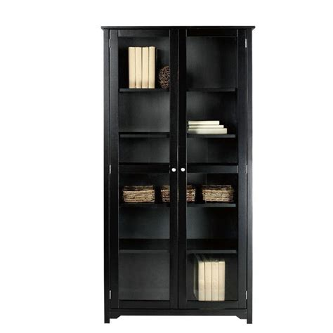 Small Black Bookcase With Doors by Black Bookcase With Doors 4 Myleaveplanner