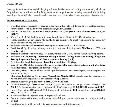 quality assurance analyst resume sample new resume sm resume