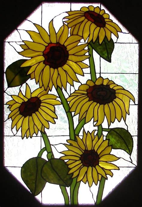 glass design flower evolution 17 best images about stained glass sunflowers on