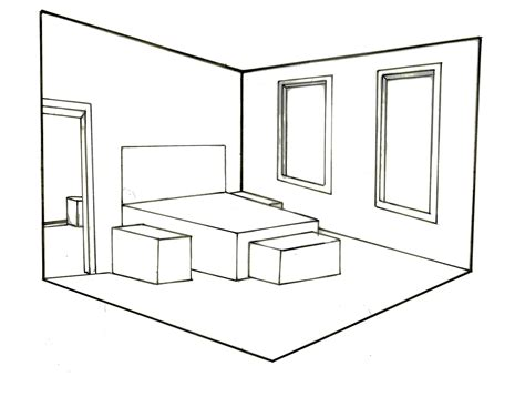 perspective drawing of bedroom the gallery for gt one point perspective drawing of a bedroom