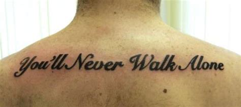 you ll never walk alone tattoo you ll never walk alone 83470 liverpool f c