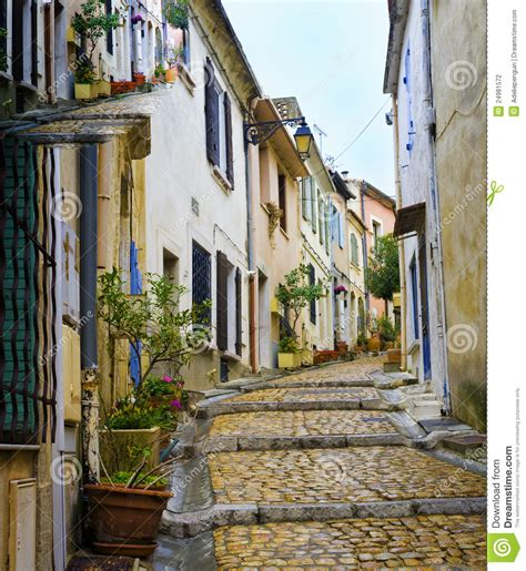 Colorfu Houses Painting charming colorful street arles france stock photo