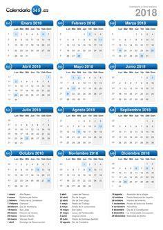 Calendario Año 2017 Con Feriados Gratis Calendarios Para 2018 Para Imprimir Calendarios