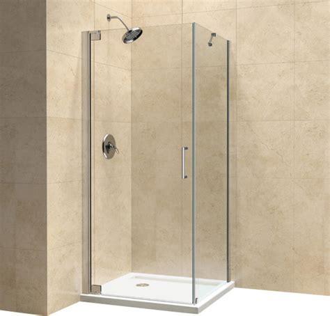 32 Inch Corner Shower Stall Dreamline Elegance 30 Quot By 32 Quot Frameless Pivot Shower