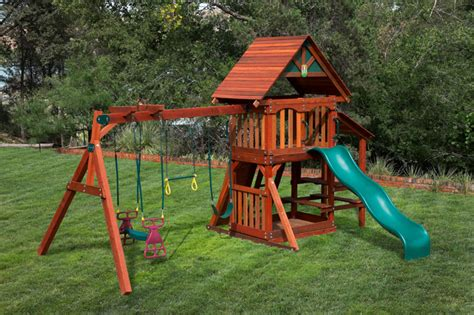 cheap wooden swing sets wooden playsets at discount prices houston swing