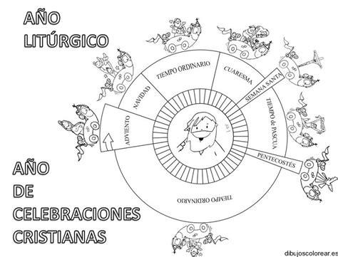 imagenes para colorear religiosas catolicas dibujo de un calendario religioso