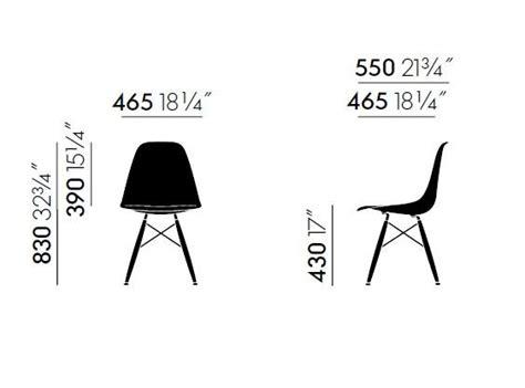 cuscino dwg dsw sedia con cuscino integrato collezione eames plastic