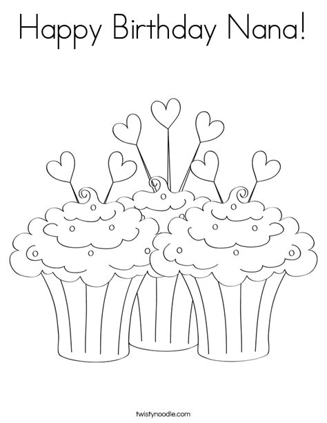happy birthday grandma coloring page coloring home