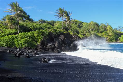 black sands our top black sand beaches in hawaii dolphins and you
