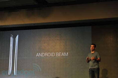 android beam announces nfc based android beam for between phones