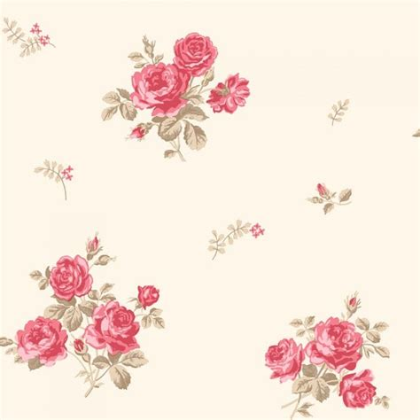 coloroll pippa floral wallpaper caramel beige red