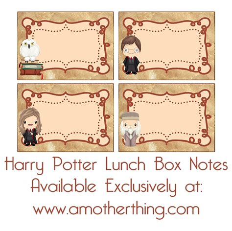 Harry Potter Place Cards Template by Free Printable Harry Potter Book Labels And Lunch Box
