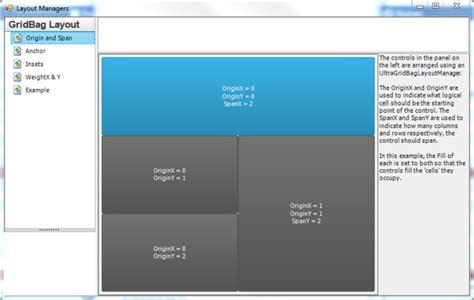 layout manager wingridbaglayoutmanager layout managers windows forms