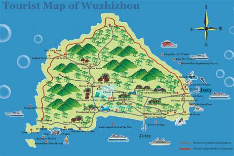 tourist map of wuzhizhou tourist map hotels transports photos