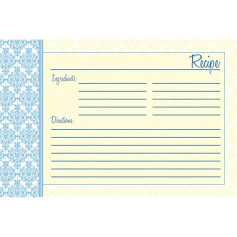 4x6 recipe card template printable recipe cards 4x6 free newhairstylesformen2014