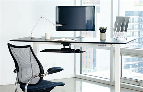 human solutions desk float humanscale s height adjustable sit stand table