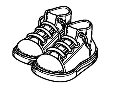imagenes de zapatos infantiles para colorear dibujo de zapatillas de ni 241 o para colorear dibujos net