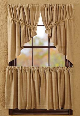 burlap swag curtains burlap natural window curtain prairie swag