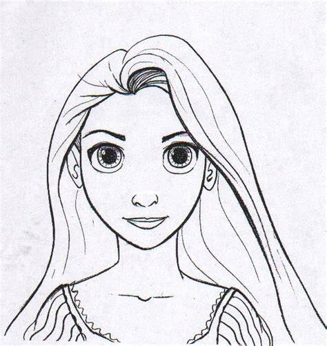 The Art Of Brian James Fichtner Rapunzel Coloring Page Coloring Pages Of Rapunzel