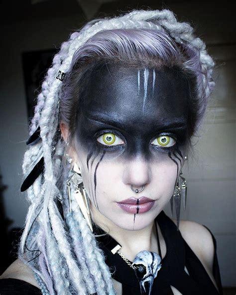 gothc viking hairstyle female warrior makeup ideas www imgkid com the image